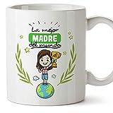 MUGFFINS Taza Mamá - La Mejor Madre del Mundo - Taza Desayuno/Idea Regalo Día de la Madre y la...