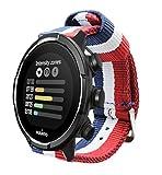 Estuyoya - Pulsera de Nailon Compatible con Suunto 9/Traverse/Diesel Smartwatch DZT2009/Fossil Q...