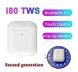 i80 TWS Sensor de Auriculares Inteligente Touch Control Auriculares inalámbricos de Carga Bluetooth...
