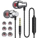JUKSTG Auriculares In Ear, Auriculares con Cable y Micrófono de Alta Sensibilidad, Control de...
