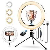 ELEGIANT Aro de Luz Trípode Fotografía, 10.2' Anillo de Luz Selfie con Control Remoto 120 LED 3...