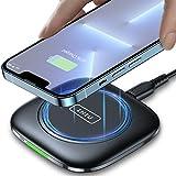 INIU Cargador Inalambrico Rápido, 15W Qi Wireless Charger Pad con Indicador Autoadaptativo Base...