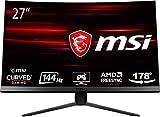 MSI Optix MAG271C - Monitor Gaming Curvo de 27' LED FullHD 144Hz (1920 x 1080p, Pantalla Curva de...