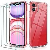 ivoler Funda Compatible con iPhone 11 6.1 Pulgadas con 3 Unidades Cristal Templado Protector de...