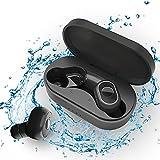 Auriculares Inalámbricos Bluetooth 5 con Micrófonos, Auriculares Bluetooth Sonido Estéreo 3D, 30...