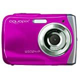 Easypix W1024 - Cámara compacta de 10 Mp (pantalla de 2.4', zoom digital 4x) color rosa (importado)