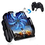 Achort PUBG Mobile Game Controller Mando Joystick Movil Gamepad Gatillos con Ventilador de...