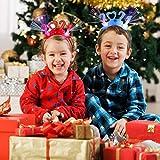 Fansport 2020 Diademas Luminosa Navidad,Diadema Luminosa Año Nuevo 2021 Año Nuevo Led Luz De Fibra...