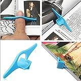 Tiptiper Soporte de página de marcadores, 4PCS Asistente de lectura de anillo de dedo de plástico...