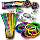 The Glowhouse Los 100 Colores Premium Pack glowhouse palillo del Resplandor Pulseras Individuales...
