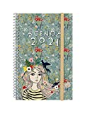 Finocam - Agenda 2021 Semana vista apaisada Espiral Design Collection Lady Español, Mediano -...