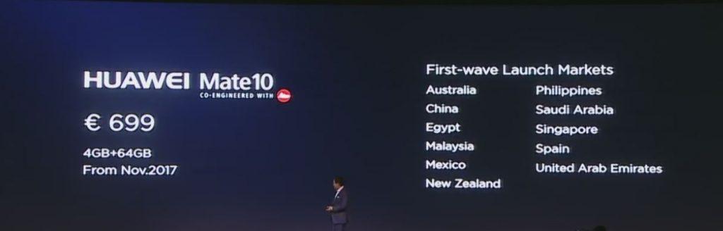 precio Huawei Mate 10