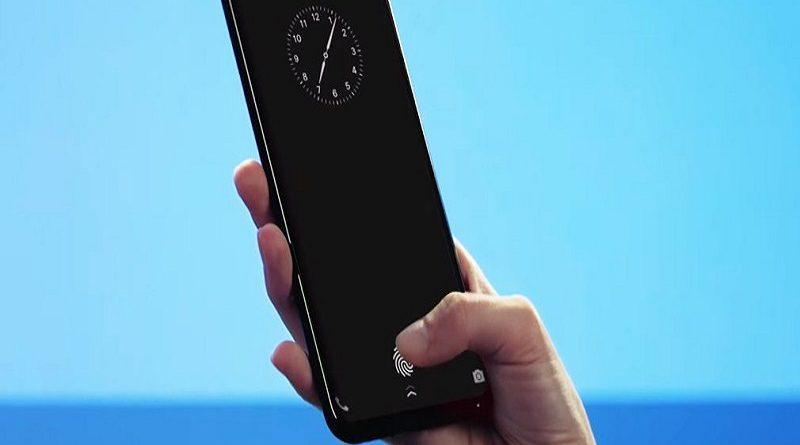 sensor de huellas bajo la pantalla