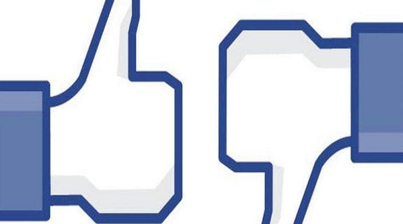 No me gusta en Facebook
