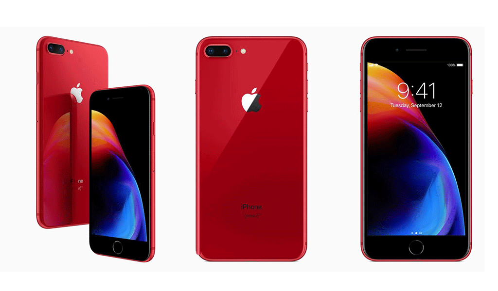 iPhone 8 en rojo