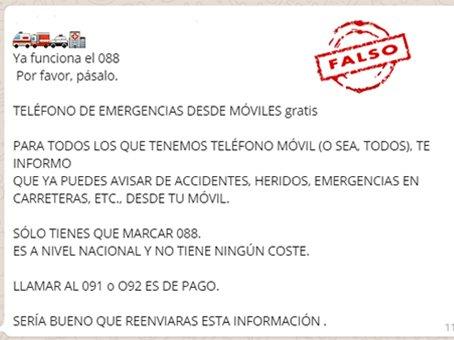 teléfono de emergencias 088