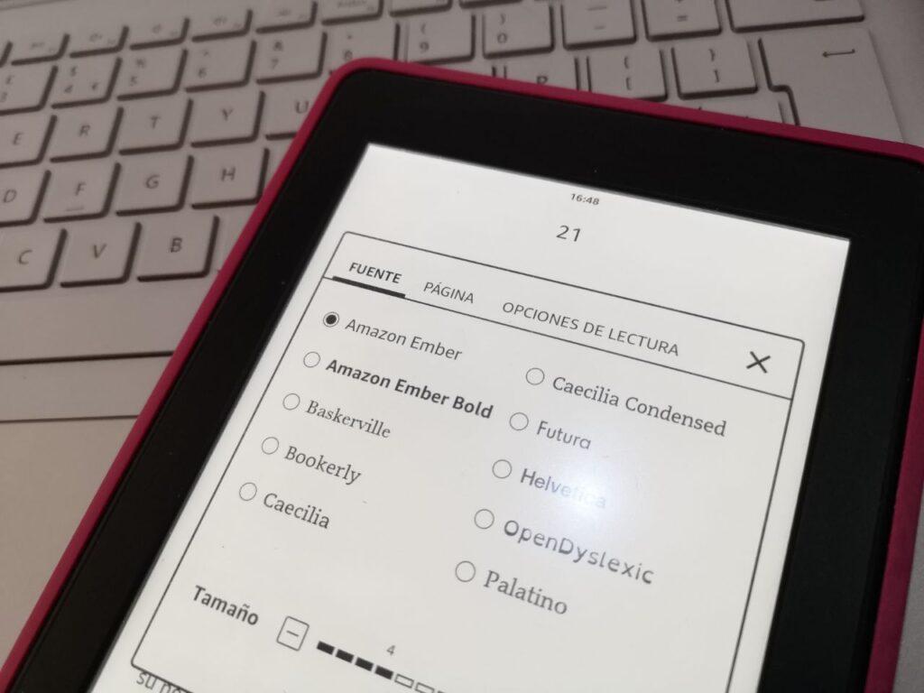 tiempo restante en un capítulo o libro de Kindle