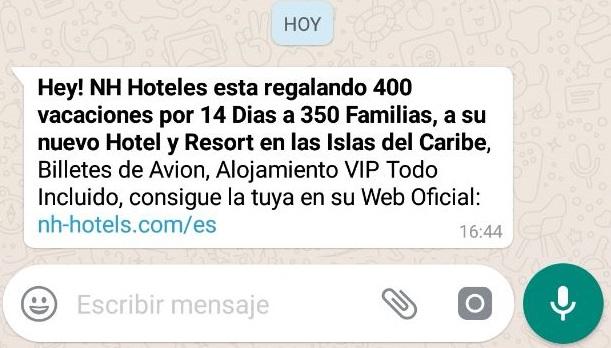 NH Hoteles esta regalando 400 vacaciones por 14 dias