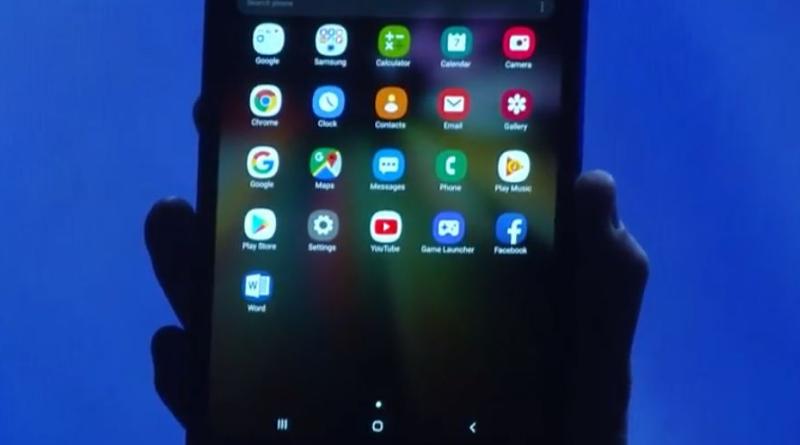 Smartphone plegable de Samsung 3