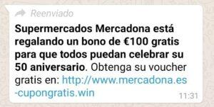 supermercados mercadona está regalando un bono de 100 gratis