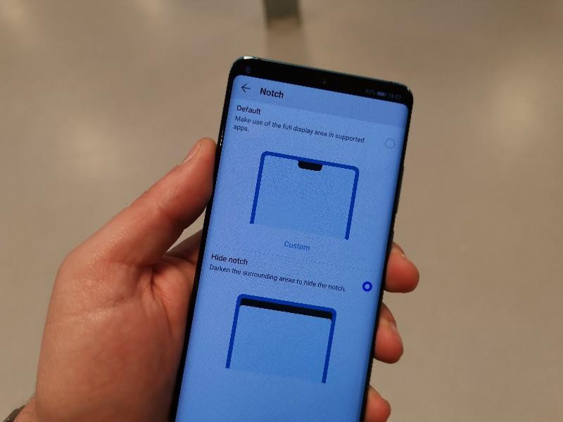 cómo ocultar el notch en móviles Huawei
