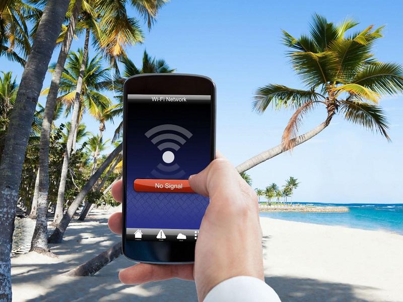 tener Internet en vacaciones